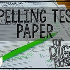 MORE Spelling Test Paper [for BIG Kids!]