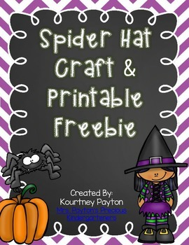 Spider Hat Craft and Printable Freebie