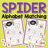 Spiders ABC Match:  Alphabet Activitiy for Preschool and K