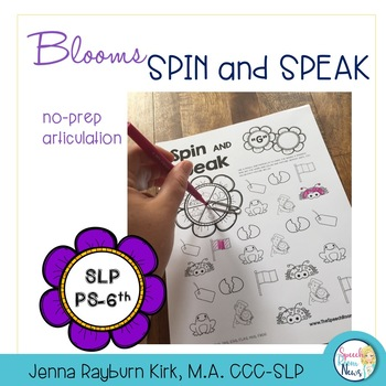 Spin and Speak: Bloom Articulation