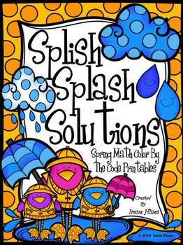 Splish Splash Solutions ~ Spring Math Printables Color By The Code Puzzles
