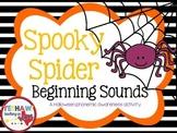 Spooky Spider Beginning Sounds