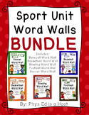 Sport Unit Word Wall Display BUNDLE
