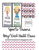 Sports Theme Hall Passes