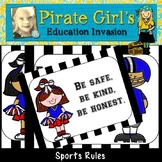 Sports Themed Classroom Rule Posters
