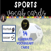 Sports Word Cards ~Chevron ~ Vocabulary and Pictures