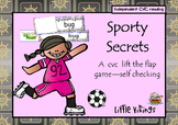 Sporty Secrets: A short vowel cvc game