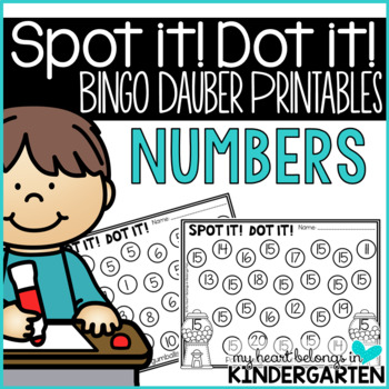 Bingo Dauber Printables (Numbers 1 to 20)
