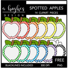Spotted Apples FREEBIE {Graphics for Commercial Use}