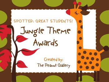 """""""Spotted: Great Students""""- Jungle Theme Awards"""