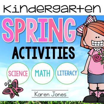 Spring Activities for Kindergarten {ELA & Math Centers & Printables}