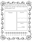 Spring Addition and Subtraction Story Problems, Kindergart
