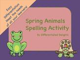 Spring Animal Spelling