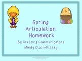 Spring Articulation Homework