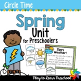 Spring Preschool Centers and Circle Time