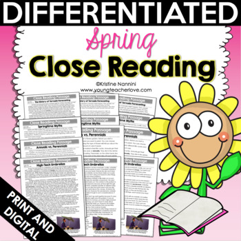 Spring Close Reading Passages, Text-Dependent Questions & More