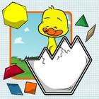 Spring / Easter Pattern Block Puzzle Freebie!