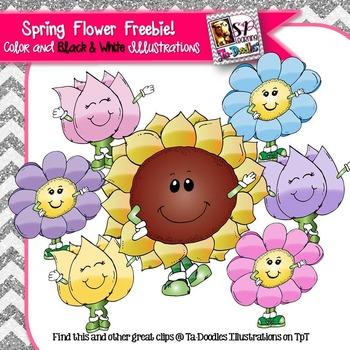 Spring Flowers FREEBIE