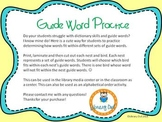 Spring Guide Word Practice