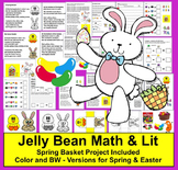 Spring Math and Literacy Center - Jelly Beans Math and Sha