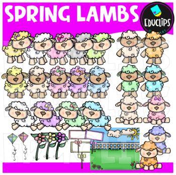 Spring Lambs Clip Art Bundle