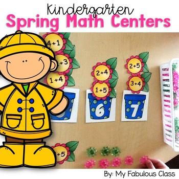 Spring Math Centers for Kindergarten