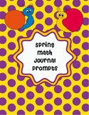 Spring Math Journal Prompts Freebie