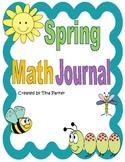 Spring Math Journal Writing