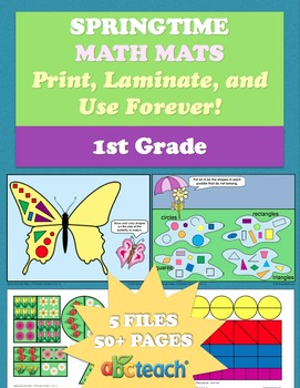 abcteach Spring Math Mats on TpT