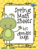Spring Math Practice Review Sheets