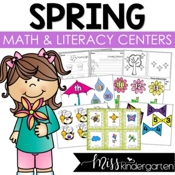 Spring Math and Literacy Centers {Bundled}