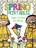 Spring Math and Literacy Printables(Common Core Aligned