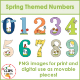 Spring Themed Numbers