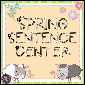 Spring Sentence Center (Freebie!)