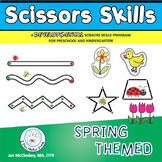 Fine Motor: Spring Themed Scissors Skills Center Time Activities