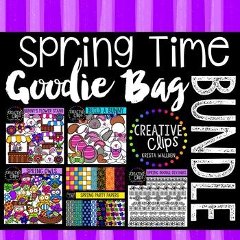 Spring Time Goodie Bag Bundle {Creative Clips Digital Clipart}