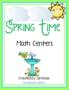 Spring Time Math Centers