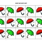 Spring-themed math mats for preschool and K/1st grade