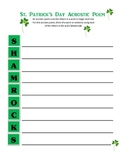 St. Patrick's Day Acrostic Poem FREE