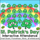 St. Patrick's Day Attendance for Interactive Whiteboards