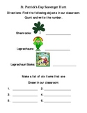 St. Patrick's Day Classroom Scavenger Hunt