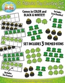 St. Patrick's Day Counting and Ten Frames Clipart Set — In