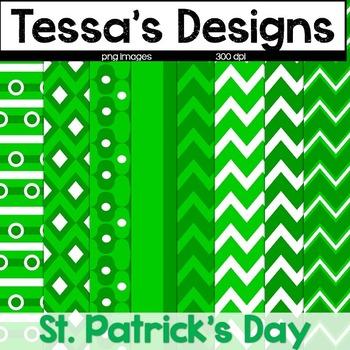 St. Patrick's Day Digital Paper {freebie}