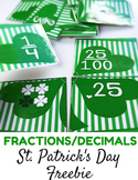 St. Patrick's Day Fraction and Decimal Puzzles