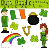 St. Patrick's Day {Combo} Digital Clip Art & Black Line Stamps