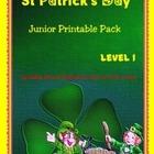 St Patrick's Day Junior Printable Worksheet Pack-No Prep