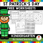 St Patrick's Day Kindergarten Worksheets Freebie