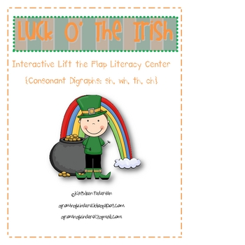"""St. Patrick's Day """"Lift the Flap"""" Consonant Digraph  Liter"""