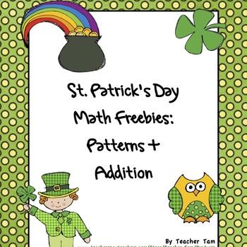 St. Patrick's Day Math Freebies:  Patterns and Addition