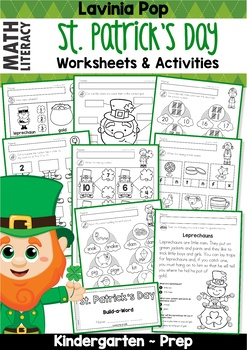 St. Patrick's Day Math & Literacy Worksheets & Activities No Prep